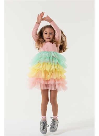 Colorinas Rainbow Tutu Elbise Pembe
